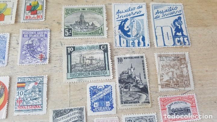 Sellos: 140 sellos viñeta de beneficencia, pro municipios, paro, contra el frio, subsidio, falange, etc - Foto 3 - 137382562