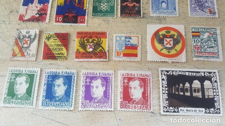 Sellos: 140 sellos viñeta de beneficencia, pro municipios, paro, contra el frio, subsidio, falange, etc - Foto 4 - 137382562