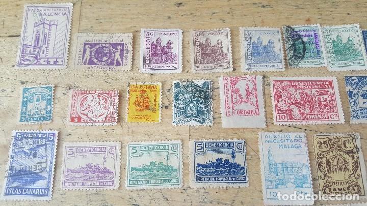 Sellos: 140 sellos viñeta de beneficencia, pro municipios, paro, contra el frio, subsidio, falange, etc - Foto 6 - 137382562