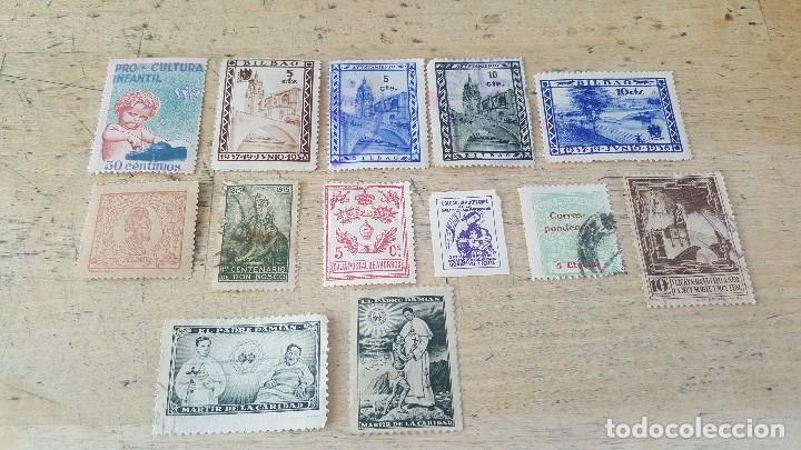 Sellos: 140 sellos viñeta de beneficencia, pro municipios, paro, contra el frio, subsidio, falange, etc - Foto 7 - 137382562