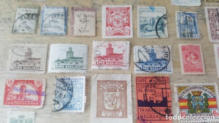 Sellos: 140 sellos viñeta de beneficencia, pro municipios, paro, contra el frio, subsidio, falange, etc - Foto 8 - 137382562