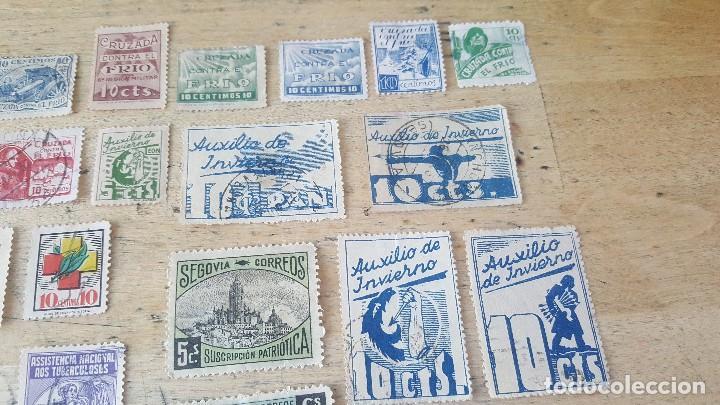 Sellos: 140 sellos viñeta de beneficencia, pro municipios, paro, contra el frio, subsidio, falange, etc - Foto 13 - 137382562