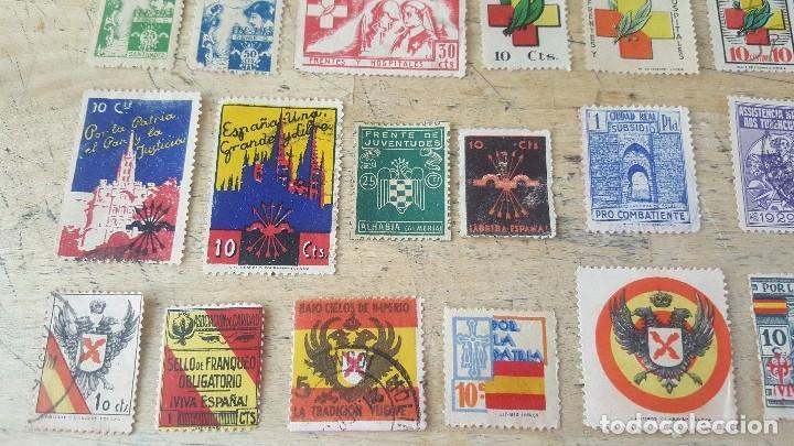 Sellos: 140 sellos viñeta de beneficencia, pro municipios, paro, contra el frio, subsidio, falange, etc - Foto 14 - 137382562