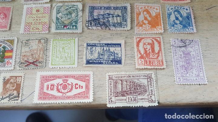 Sellos: 140 sellos viñeta de beneficencia, pro municipios, paro, contra el frio, subsidio, falange, etc - Foto 16 - 137382562