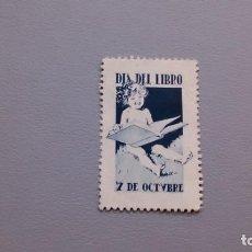 Sellos: ESPAÑA - 1920-1930 - VIÑETA - DIA DEL LIBRO - 7 DE OCTUBRE - MH* - NUEVA.. Lote 137432590