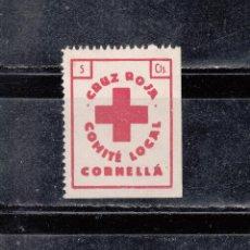 Sellos: CORNELLA. CÓMITE LOCAL DE LA CRUZ ROJ. 5 CTS.. Lote 137444134