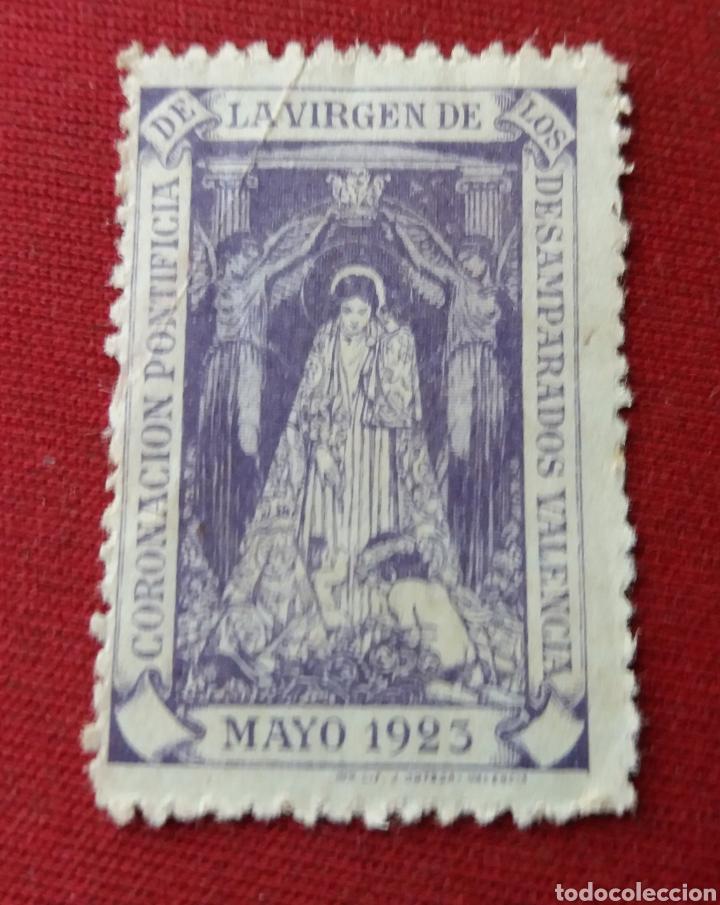 VALENCIA. CORONACIÓN VIRGEN DE DESAMPARADOS. 1923. VIÑETA (Sellos - España - Guerra Civil - Beneficencia)