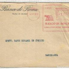 Sellos: ITALIA ROMA 1939 CC A BARCELONA FRANQUEO MECANICO CENSURA MILITAR DE BARCELONA LOBA WOLF. Lote 137649882