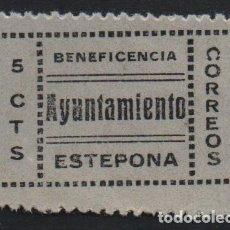 Sellos: ESTEPONA, 5 CTS, VARIEDAD.- C DE CORREOS INVERTIDA- VER FOTO. Lote 137792758