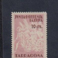 Sellos: TARRAGONA. EDIFIL 1 *. 10 CTS LILA DEFENSA PASSIVA. . Lote 137984914