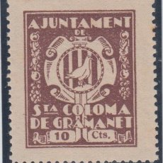 Sellos: GUERRA CIVIL, VIÑETAS, SANTA COLOMA DE GRAMANET, ( BARCELONA ), NO CATALOGADO.. Lote 138247746