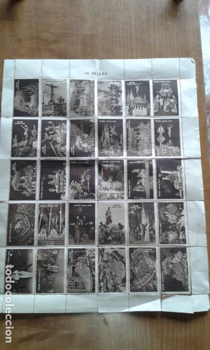 COLECCIÓN COMPLETA VIÑETAS TIPO SELLO DE LA SEMANA SANTA MALAGUEÑA. MÁLAGA 30 SELLOS. ANTIGUO. (Sellos - España - Guerra Civil - Viñetas - Nuevos)