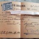 Sellos: SELLO DIEZ CENTIMOS AZUL CIUDAD REAL SOBRE ARBITRIO BICICLETA 1940 ZXY. Lote 138543376
