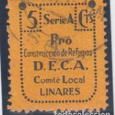 Sellos: GUERRA CIVIL. CONSTRUCCIÓN DE REFUGIOS D.E.C.A. LINARES (JAEN ). Lote 138612902