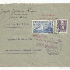Sellos: CIRCULADA 1939 DE PALMA DE MALLORCA A SALAMANCA CON CENSURA MILITAR Y MATASELLO DE LLEGADA VER FOTO. Lote 139333970