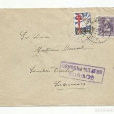 Sellos: CIRCULADA 1938 DE BURGOS A SALAMANCA CON CENSURA MILITAR. Lote 139338038