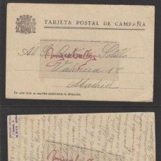 Sellos: TARJETA POSTAL DE CAMPAÑA DEST MADRID FECHA OCTUBRE - 1936. Lote 139347634