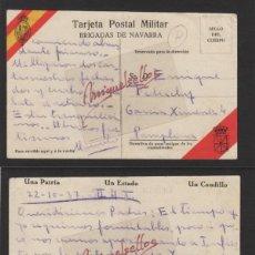 Sellos: TARJETA POSTAL MILITAR BRIGADAS DE NAVARRA 22-10-1937 TEXTO INTERESANTE PASO INFIESTO (ASTURIAS). Lote 139351830