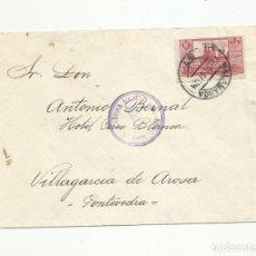 Sellos: CIRCULADA 1937 DE SALAMANCA A VILLAGARCIA DE AROSA CON CENSURA MILITAR . Lote 139419806