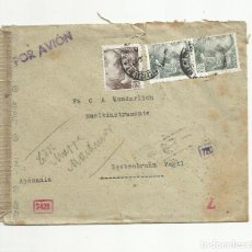 Sellos: CIRCULADA 1944 DE BARCELONA A ALEMANIA CON CENSURA . Lote 139560534