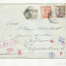 Sellos: CIRCULADA 1943 DE BARCELONA A ALEMANIA CON CENSURA GUBERNATIVA. Lote 139560898