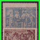 Sellos: BENEFICENCIA 1938 CUADROS DE VELÁZQUEZ, EDIFIL Nº 29G Y 30G * * PAPEL GRIS. Lote 140070062
