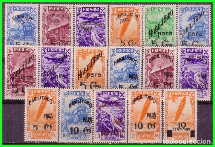 BENEFICENCIA 1940 HISTORIA DEL CORREO HABILITADOS, EDIFIL Nº 36 A 52 * * (Sellos - España - Guerra Civil - Beneficencia)