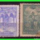 Sellos: BENEFICENCIA HUERFANOS DE TELÉGRAFOS 1937 HOGAR TELEGRÁFICO, EDIFIL Nº 10A Y 11A * *. Lote 140073794