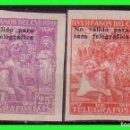 Sellos: BENEFICENCIA HUERFANOS DE TELÉGRAFOS 1938 NIÑOS Y SANTIAGO, EDIFIL Nº 19S Y 20S * *. Lote 140074538