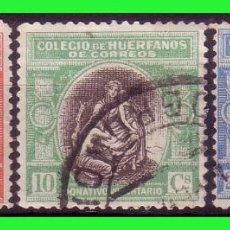 Sellos: BENEFICENCIA, HUERFANOS DE CORREOS, 1920 ALEGORÍA, EDIFIL Nº B1 A B3 (O). Lote 140119046