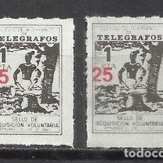 Selos: 7142-COLEGIO DE HUERFANOS DE TELEGRAFOS,CORREOS FISCALES SOBRECARGA DIFERENTE 2 HABILITACIONES NUEVO. Lote 140258846
