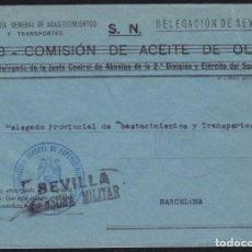Sellos: GUERRA CIVIL. 1939. SEVILLA A BARCELONA.. Lote 140268234