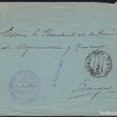 Francobolli: GUERRA CIVIL. 1937. ALCUBILLA DE AVELLANEDA A BURGOS.. Lote 140271282