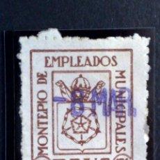 Sellos: SELLO MUNICIPAL 25CTS. (·) MH.-MONTEPIO EMPLEADOS MUNICIPALES DE REUS (DESCRIPCIÓN). Lote 257310565
