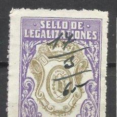 Sellos: 7558-SELLO ANTIGUO FISCAL CORPORATIVO LEGALIZACIONES SIN DEFECTOS,ESCASO,RARO.SPAIN REVENUE CLASSIC.. Lote 140407558