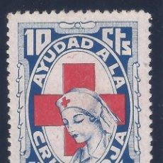 Sellos: AYUDAD A LA CRUZ ROJA. AÑO 1937. GUILLAMÓN Nº 1642. MH *. Lote 140421478