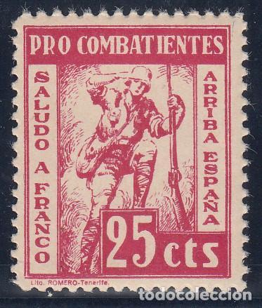 GUERRA CIVIL, PRO COMBATIENTES, TENERIFE ( CANARIAS ) (Sellos - España - Guerra Civil - De 1.936 a 1.939 - Nuevos)
