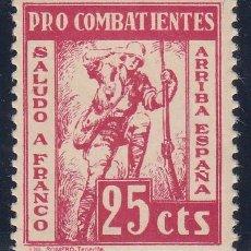 Sellos: GUERRA CIVIL, PRO COMBATIENTES, TENERIFE ( CANARIAS ). Lote 140436058