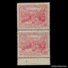 Sellos: II REPÚBLICA ESPAÑOLA. 1939. CORREO DE CAMPAÑA. 40C. ROSA NUEVO**. EDIF. NºNE 49. Lote 140436210