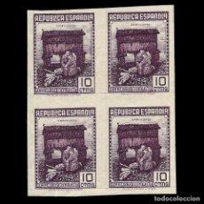 Sellos: II REPÚBLICA ESPAÑOLA. 1939. CORREO DE CAMPAÑA. 10C. VIOLETA. SIN DENTAR. BOQUE 4. NUEVO**. EDIF. Nº. Lote 140437570