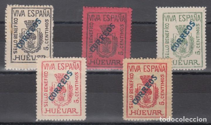 GUERRA CIVIL, SELLO BENÉFICO HÚEVAR, SOBRECARGA CORREOS , (Sellos - España - Guerra Civil - De 1.936 a 1.939 - Nuevos)