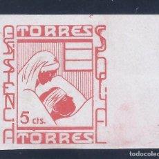 Sellos: TORRES. ASISTENCIA SOCIAL, MH *. Lote 140438214