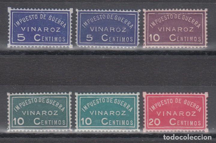 GUERRA CIVIL, IMPUESTO DE GUERRA, VINAROZ (CASTELLON) (Sellos - España - Guerra Civil - De 1.936 a 1.939 - Nuevos)