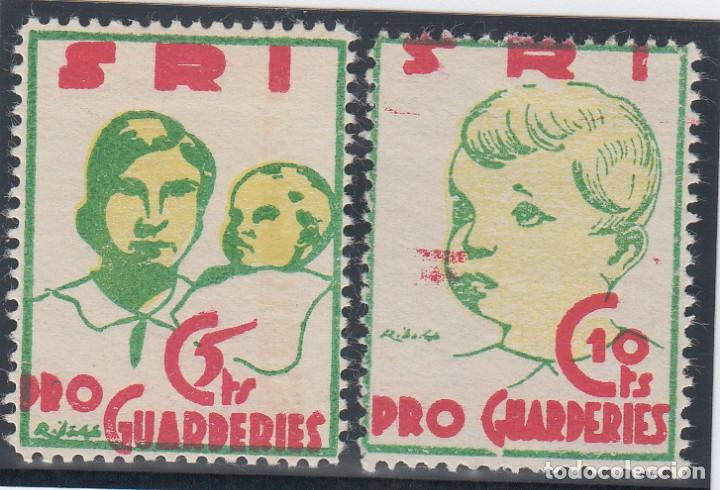 Sellos: GUERRA CIVIL, - PRO GUARDERIES - 5 CTS, 10 CTS, - Foto 1 - 140441702