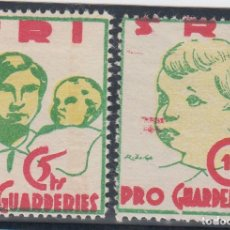 Sellos: GUERRA CIVIL, - PRO GUARDERIES - 5 CTS, 10 CTS, . Lote 140441702