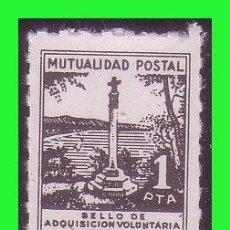 Sellos: BENEFICENCIA MUTUALIDAD POSTAL, 1 PTA NEGRO. NEGRO, PEIRÓN * * DENTADO DE LÍNEA. Lote 140528138