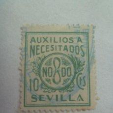Sellos: GUERRA CIVIL : VIÑETA NACIONAL DE SEVILLA, AUXILIO A NECESITADOS. Lote 140609170