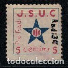 Sellos: ALLEPUZ JSUC 1568 MANUSCRITO RADI 3ER .5 CENTIMOS. CURIOSO Y RARO. Lote 140690270