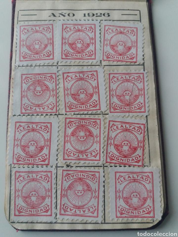 Sellos: VALENCIA.SOCIEDAD DE DEPENDIENTES DE FARMACIA DE VALENCIA. CARNET IDENTIDAD DE JATIVA. 57 CUPONES - Foto 3 - 140963114