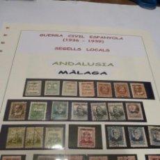 Sellos: COLECCION DE SELLOS GUERRA CIVIL SELLOS CON SOBRECARGA . Lote 141172962